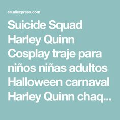 1d04f71fe Suicide Squad Harley Quinn Cosplay traje para niños niñas adultos Halloween  carnaval Harley Quinn chaqueta ropa