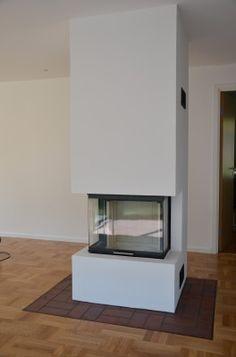 putsad öppen spis - Sök på Google Wood Burner, Fireplaces, My Dream Home, Building A House, Living Room, Kitchen, Inspiration, Google, Home Decor