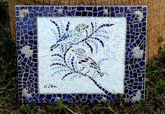 Blue Birds by KikaMosaicDesign on Etsy