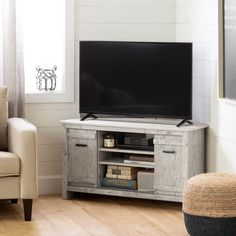 Seaside Pine 40 Inch Corner TV Stand - Exhibit | RC Willey Furniture Store