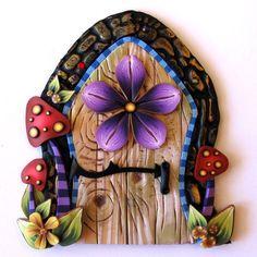 Wild Mushroom Fairy Door. $22.00, via Etsy.