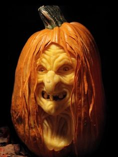 Witch, Michael Brown of MB Creative Studio, Springfield, MO, 2014 pumpkin carving contest winners
