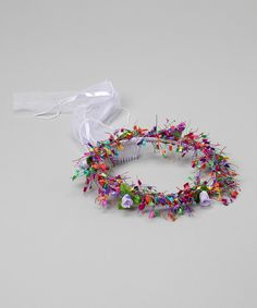 Easy do --- Another great find on #zulily! Lavender Confetti Ribbon Halo by Bubblegum Diva #zulilyfinds