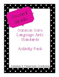 2nd Grade Language Arts Bundle | by Mrs Cassady | $3.00