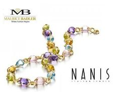 Just look at the details of the hand faceted gemstones on this necklace from Nanis. Maurice Badler has a marvelous collection of fine Italian jewelry from Nanis. For more information visit Maurice Badler on Park Avenue New York City, call (800)-BADLER (800) 622-3537 Mon-Sat 10 AM – 7 PM  or click here: http://www.badler.com/index.php/designers/nanis/multi-gem-necklace-from-nanin.html