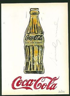 ANDY WARHOL - lithography signed on original paper of 70's - Coke