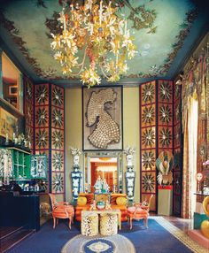 """Apr 2019 - Forget about """"less is more"""" and embrace """"more is more"""" because maximalism is here to stay. Clashing patterns, riotous colour, vast collections of objects - see our favourite maximalist interiors and get some tips on how to achieve the look. One Kings Lane, Cabana, Maximalist Interior, Collections Of Objects, Interior Decorating, Interior Design, Decorating Ideas, Architectural Digest, Elle Decor"""