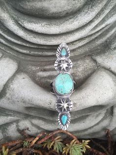 Turquoise totem... Sterling silver turquoise ring