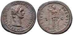 AE As. Roman Imperial, Domitian, Rome. 88-89 AD. 31mm, 11.11g, 6h. RIC 550. Near EF. Price realized (2.7.2016): 119 EUR.