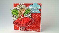 Kartka świąteczna z małą dziewczynką. Malaga, Winter, Cards, Christmas, Winter Time, Xmas, Weihnachten, Yule, Map
