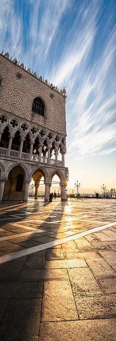 Doge's Palace at dawn, Venice, Italy