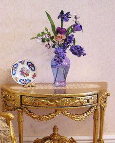 maritza moran miniatures   lavender floral