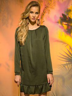 Idea para camisola. Almatrichi verano 2017 Vestido ALEC VOLANTE