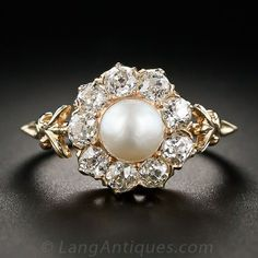 Antique Pearl and Diamond Ring - 30-1-5512 - Lang Antiques