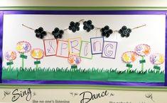 Spring bulletin board. Handprint flowers. Classroom Art Projects, Art Classroom, Spring Bulletin Boards, Infant Classroom, Baby Activities, Infants, School, Flowers, Young Children
