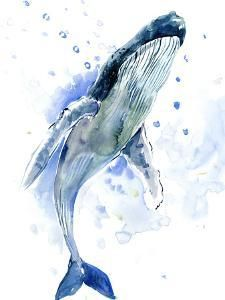 Humpback Whale, original watercolor painting, sea world, sea animals, beach - My list of the most beautiful animals Whale Drawing, Whale Painting, Watercolor Whale, Watercolor Animals, Watercolor Paintings, Whale Illustration, Watercolor Illustration, Whale Tattoos, Whale Art