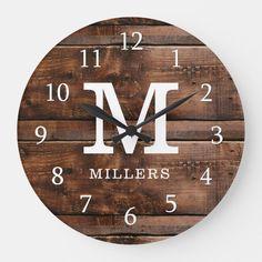 Brown Wood Texture, Wood Plank Texture, Rustic Wall Clocks, Wood Clocks, Barn Wood, Rustic Wood, Family Clock, Diy Clock, Clock Ideas