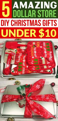 These DIY Christmas Gifts from the Dollar Store are so EASY! The BEST inexpensiv. These DIY Christmas Gifts from the Dollar Store are so EASY! The BEST inexpensive holiday gift ideas from the Dollar Sto. Family Gift Baskets, Diy Gift Baskets, Christmas Gift Baskets, Christmas Fun, Family Gift Ideas, Dollar Store Christmas, Best Gift Ideas, Best Family Gifts, Homemade Gift Baskets
