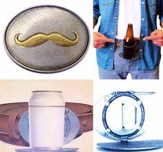 Mustache Beverage Beer Can Bottle Holder Belt Buckle Buckles Cool Belt Buckles, Bottle Holders, Mustache, Beverages, Beer, Canning, Gift, Style, Products