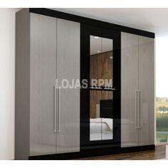 Roupeiro Pegasus - Gelius Móveis Acabamento exclusivo 3 Gavetões internos Corrediças metálicas Espelho Opcional 6 Portas R$1.499,90 10x de R$149,99 ou R$1.274,92 no Boleto ou Transferência
