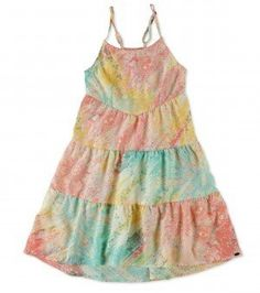 Girls Miley Dress from ONeill. Love this, perfect summer dress, gorgeous colors that would look good on any girl.