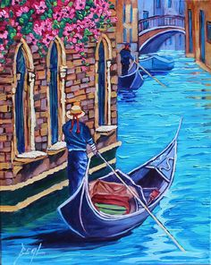 Its so easy for me to get caught up in the feeling of a city like Venice, where everything is just beautiful color and gorgeous buildings that are so peaceful. You can roam around and get lost in the labyrinth. This painting is fresh off the easel. Title: Getting lost is the only place
