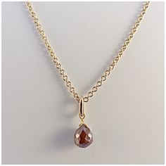 Made in the workshop, 9ct Yellow Gold Briolette Diamond Necklace.
