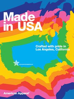 Made in USA by #AmericanApparel.  #advertisement #madeinUSA