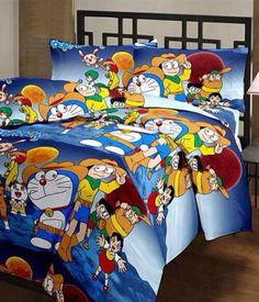 Doremon cotton bedsheets