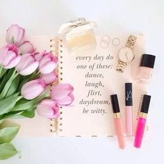 Image via We Heart It https://weheartit.com/entry/166696893 #beauty #chanel #flowers #glam #lipgloss #nailpolish #nars #quote #watch #tulps