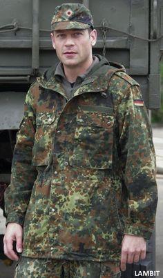 Original parka flectarn from Bundeswehr / Modern German Army