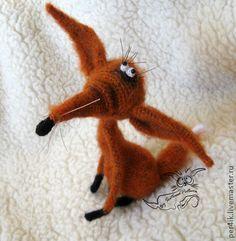 Лиса, деловая колбаса - игрушка,рыжий,вязаная игрушка,лис,лиса,лисичка