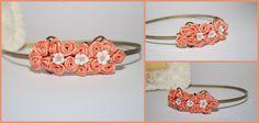 peach roses headpiece. Headpiece, Roses, Peach, Band, Retro, Accessories, Fashion, Moda, Headdress