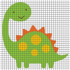 This crochet graphghan pattern is 170 x 170 squares and comes with the written row-by-row instructions as well as the graph. Baby Boy Knitting Patterns, Baby Cross Stitch Patterns, Tapestry Crochet Patterns, Cross Stitch Baby, Cross Stitch Animals, Cross Stitch Designs, Cross Stitch Cards, Cross Stitching, Cross Stitch Embroidery