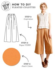 DIY Outfit – Pleated Culottes — Sew DIY