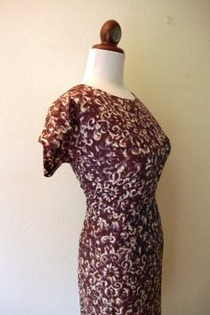 Vintage 1950s Purple Modern Wiggle Dress by RetroKittenVintage, $45.00