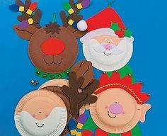 Paper plate craft ideas for kids using paper plates, what crafts can I make with paper plates, , childrens craft supplies Christmas Arts And Crafts, Santa Crafts, Preschool Christmas, Christmas Activities, Christmas Projects, Kids Christmas, Holiday Crafts, Holiday Fun, Christmas Paper
