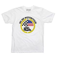 We love all types of motorcycles. We love all types of racing!  This shirt was the result of a co-lab between 5 or so people @dustinaksland @skipaksland @hello_mathew @pj1 and @seeseemotorcycles don't miss your chance to own one. Head on over to www.seeseemotorcycles.com and pick one up today! #pj1 #skip #gnc #27 #Padgram