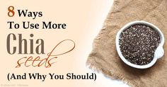 Chia seeds are packed with nutrition and have so many health benefits like being a rich source of healthy fats, dietary fiber, vitamins, antioxidants, and more. http://articles.mercola.com/sites/articles/archive/2015/07/06/chia-seeds-benefits.aspx