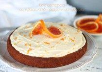 Orange cake with Whipped Orange Icing