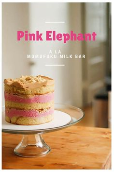My Pink Elephant: Brown Butter Cake with Cranberry Curd, Orange Cardamom Crumbs, and Biscoff Frosting (inspired by Momofuku Milk Bar) From Blossom To Stem | Because Delicious www.blossomtostem.net