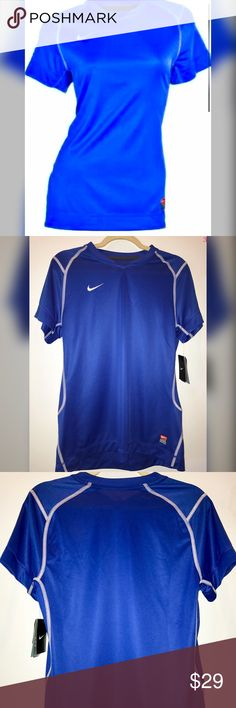 Nike Brasilia II Womens Soccer Jersey Shirt Blue L Brand new with tags. Size Large. Royal blue with white stitching. Jersey type material. $44 retail. 10% off bundle discount. I just started selling on posh so follow me for TONS more to come! Everything I sell is brand new, reputable brands. Smoke-free home. Great customer service is my priority! Thanks for looking! Make a reasonable offer or ask any questions! XOXO - G Nike Tops Tees - Short Sleeve