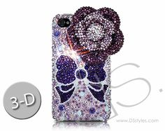 http://www.dsstyles.com/iphone-4-Floral Ribbon 3D Bling Swarovski Crystal Phone Case - Purpleand-4s-cases/swarovski-series-floral-ribbon-3d-swarovski-crystal-phone-case-purple.html