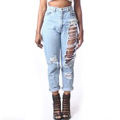 Women's plus size distressed jeans « Clothing for large ladies