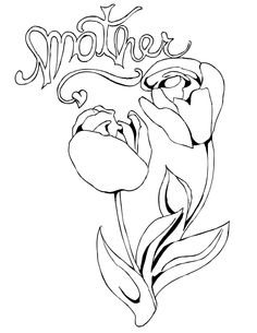 tulips for mom coloring page from mothers day category select from 28148 printable crafts of cartoons nature animals bible and many more