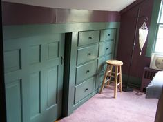 Installed in an old colonial home where the customer wanted to convert a small closet into drawer storage. The drawers fully extend as the complement … Attic Bedrooms, Upstairs Bedroom, Girls Bedroom, Bedroom Ideas, Master Bedroom, Basement Remodel Diy, Basement Remodeling, Closet Drawers, Closet Doors