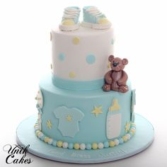 Simple and cute baby shower cake