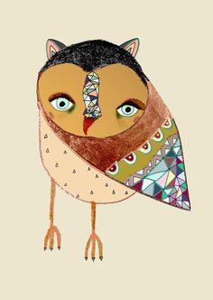 Owl Art by Ashley Percival.