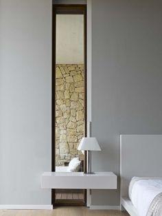 Minimalist bedroom inside the House in Monasterios by Ramon Esteves_