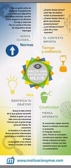 Cómo mejorar tus presentaciones #infografia #infographic #design